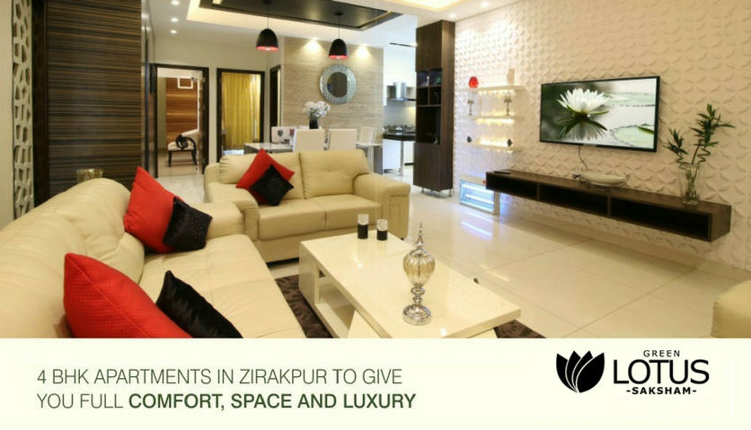 4 bhk apartments in zirakpur