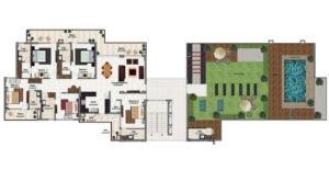 5 bhk penthouse in zirakpur floor plan
