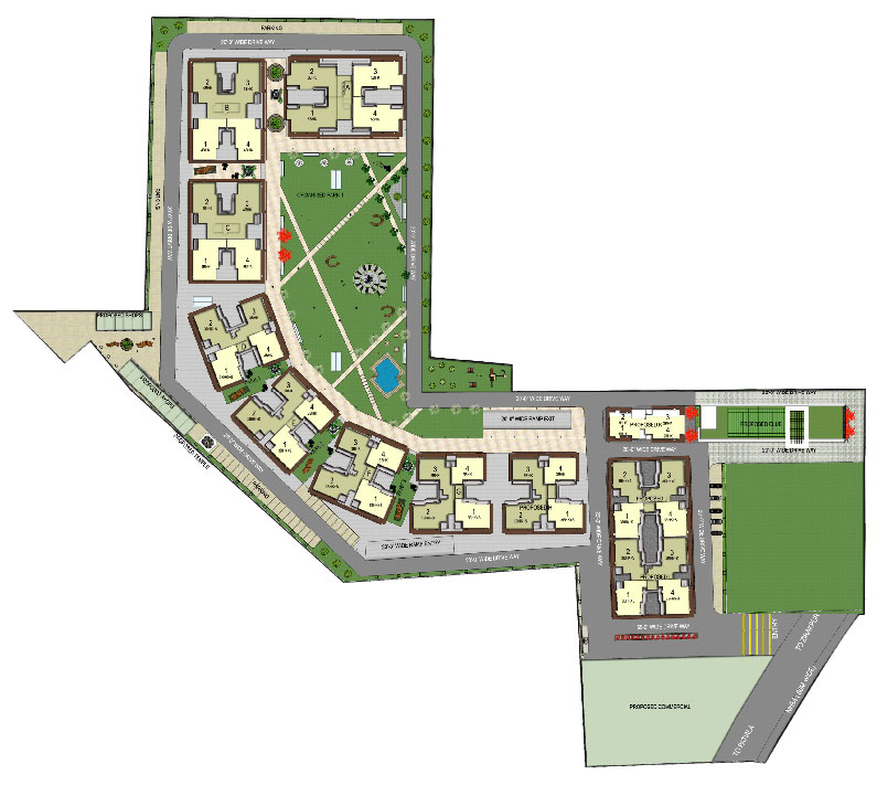 site plan - Green Lotus Saksham